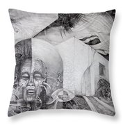 Outskirts Of Necropolis Throw Pillow
