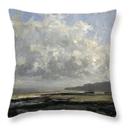 Outskirts Of Trouville Throw Pillow
