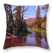 Outstanding Yellowstone National Park Throw Pillow by John Malone