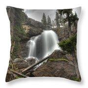 Ouzel Falls Upper View Throw Pillow