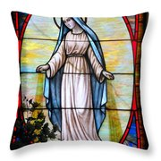 Oval Mary Throw Pillow