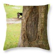 Oval Tree Art Throw Pillow