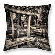 Over Hill-over Dale Throw Pillow