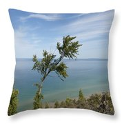 Over Lake Michigan Throw Pillow