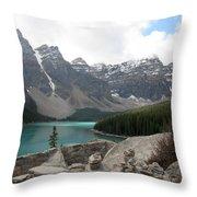 Moraine Lake Lookout - Lake Louise, Alberta Throw Pillow