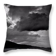 Over Lake Winnipesaukee Throw Pillow