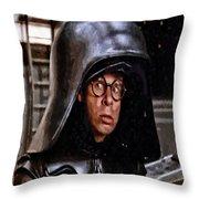 Over My Helmet Throw Pillow