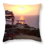 The Sun Shines Over My Dead Roof  Throw Pillow