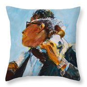 Over Our Shoulders					 Throw Pillow
