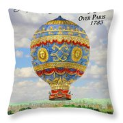 Over Paris 1783 Throw Pillow
