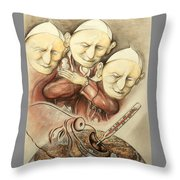 Over-pope-ulation - Cartoon Art Throw Pillow