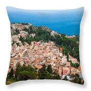 Over Taormina City Throw Pillow
