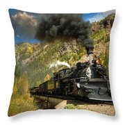 Over The Animas River Throw Pillow
