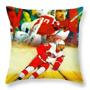 Over The Boards Throw Pillow