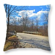 Over The Brook Throw Pillow