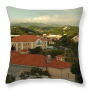 Over The Campus Throw Pillow