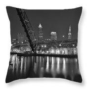 Over The Cuyahoga Throw Pillow