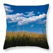 Over The Grass Throw Pillow
