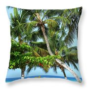 Over The Hedges Throw Pillow