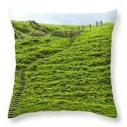Over The Hill To Far Away Throw Pillow