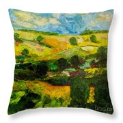 Over The Hills Throw Pillow