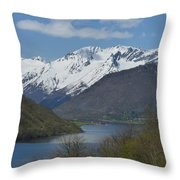 Over The Hjorundfjord Throw Pillow