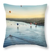 Over The Hudson Throw Pillow
