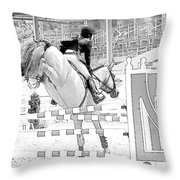 Over The Jump Throw Pillow