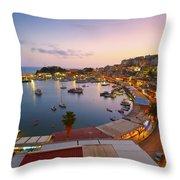 Over The Marina Throw Pillow