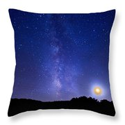 Over The Power Lines Throw Pillow