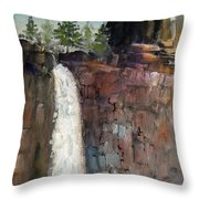 Over The Precipice Throw Pillow