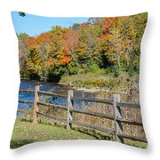 Over The River And Into The Through The Woods  Throw Pillow