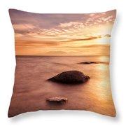 Over The Sea To Arran Throw Pillow by John Farnan