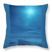 Over The Thin Air Throw Pillow