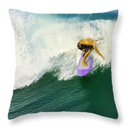 Over The Top Throw Pillow by Laura Fasulo