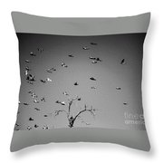 Over Tree Tops Throw Pillow