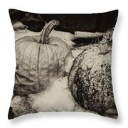 Overdue Fall Feast Remains Throw Pillow