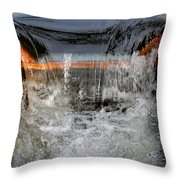 Overflow At The One Mile Throw Pillow