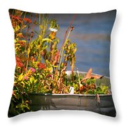 Overflower Throw Pillow
