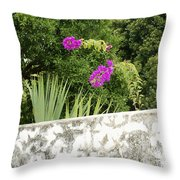Overhanging Blossoms Yaxcopoil Mexico Throw Pillow