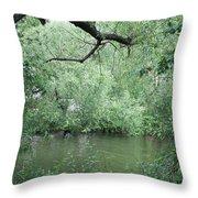 Overhanging Tree Throw Pillow