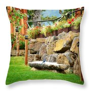 Overlook At The Gorge Throw Pillow