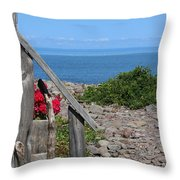 Overlooking Bay Of Fundy Throw Pillow