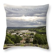 Overlooking Boyertown Throw Pillow