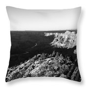 Overlooking The Canyon Throw Pillow
