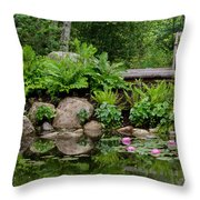 Overlooking The Lily Pond Throw Pillow