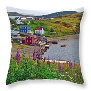Overlooking Trinity-nl Throw Pillow
