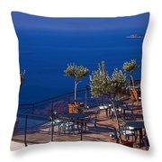 Overlooking Tyrrhenian Sea Throw Pillow