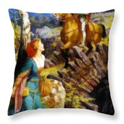 Overthrowing Of The Rusty Knight  Throw Pillow