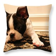 Overtired Throw Pillow